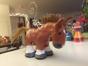 custom horse ornament
